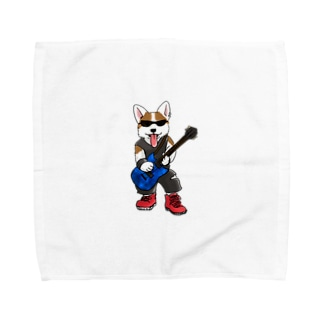 ギターコーギー Towel handkerchiefs