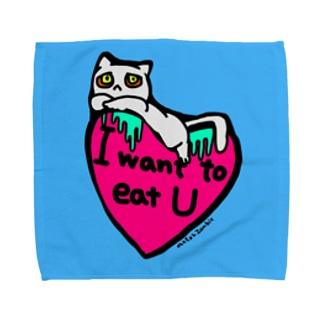 ねこちゃんゾンビ たべちゃいたい Towel handkerchiefs