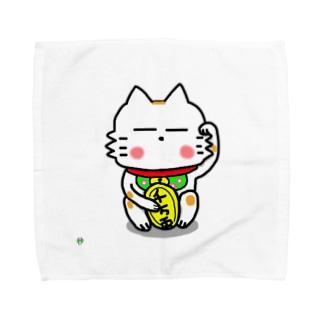 BK あーきちゃん招き猫バージョン タオルハンカチ