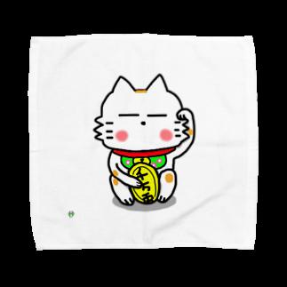 ビケ@BKF48 補欠のBK あーきちゃん招き猫バージョンタオルハンカチ