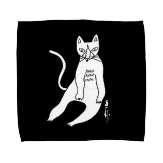 しろねこペロリ Towel handkerchiefs