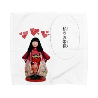 日本人形 Towel handkerchiefs