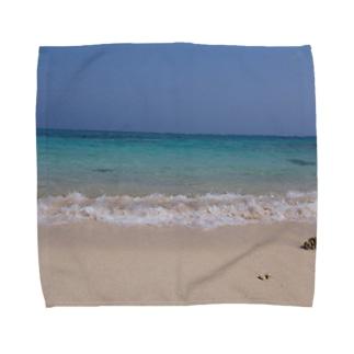 春の海辺 Towel handkerchiefs