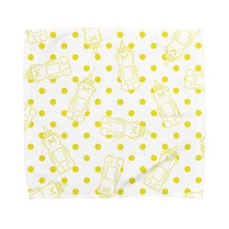Honey bear (yellow dots) Towel handkerchiefs