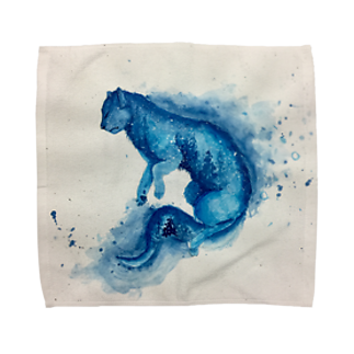 BTOKの青い猫 Towel handkerchiefs