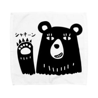 クマさん、爪を立てて戦闘モード。 Towel handkerchiefs