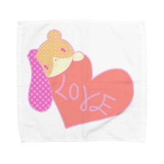 パステルカラー くま うさぎ Towel handkerchiefs