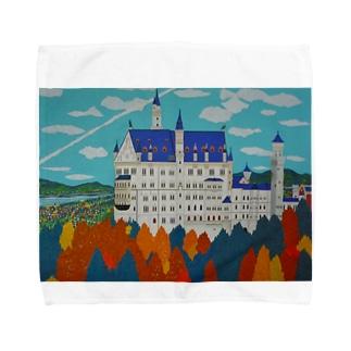 紅葉のノイシュバンシュタイン城 Towel handkerchiefs