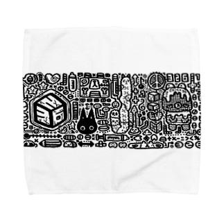 ものくろー Towel handkerchiefs