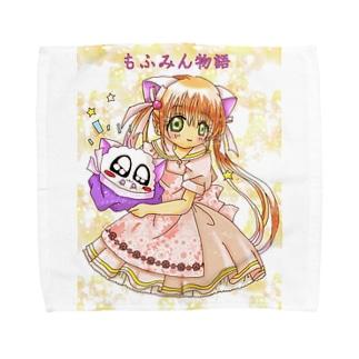 もふみん物語グッズ① Towel handkerchiefs