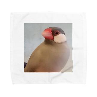 文鳥のちゅんさん Towel handkerchiefs
