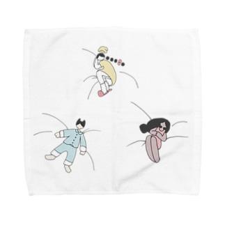 みんなでおやすやすや Towel handkerchiefs