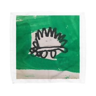 ハリネズミ Towel handkerchiefs