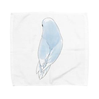 見返り美人マメルリハちゃん【まめるりはことり】 Towel Handkerchief