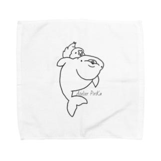 ベルーガちゃんとサザナミインコ Towel handkerchiefs