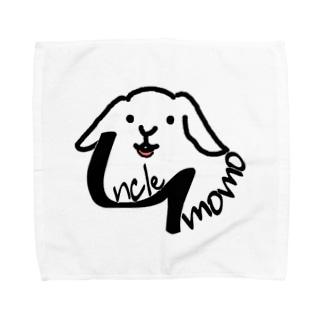 【uncle momo】ロゴ Towel handkerchiefs