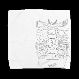 おまじないの黒のご利益 Towel handkerchiefs