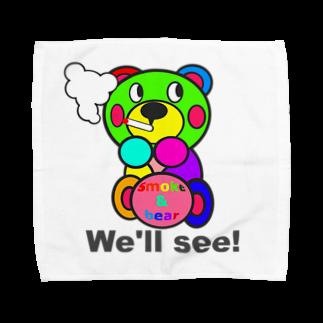 オリジナルデザインTシャツ SMOKIN'の一服モクモックマ  カラフル オリジナルアイテム  Towel handkerchiefs