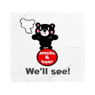 玉のりモクモックマ 黒 オリジナルアイテム Towel handkerchiefs