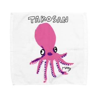 タコさんソロダンス(ピンク) Towel handkerchiefs