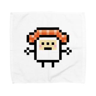 PixelArt スシスッキー サーモン Towel handkerchiefs