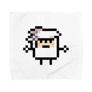 PixelArt スシスッキー イカゲソ Towel handkerchiefs