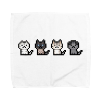 PixelArt ニャンズ4 Towel handkerchiefs