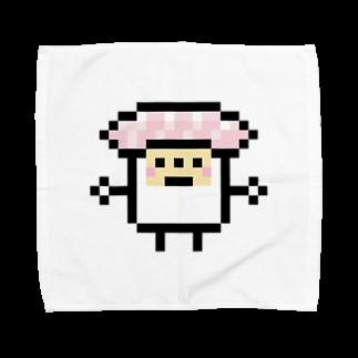 GRADUCAのPixelArt スシスッキー ビントロ Towel handkerchiefs