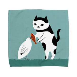 かもめとねこ Towel handkerchiefs