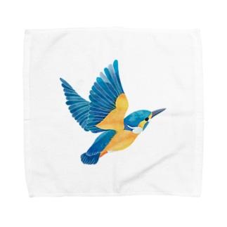 カワセミ Towel handkerchiefs