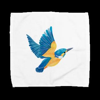 ヒフミ ヨイのカワセミ Towel handkerchiefs