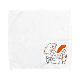犬たち Towel Handkerchief