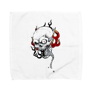 火炎髑髏 Towel handkerchiefs