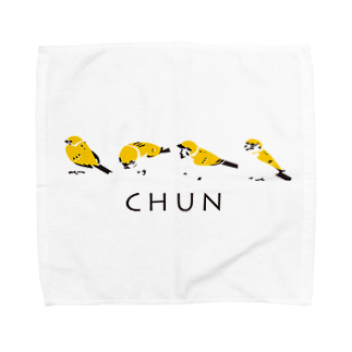 Pev1/4のスズメ Towel handkerchiefs