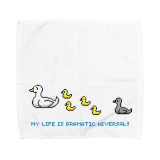 ドットあひるの親子 Towel handkerchiefs