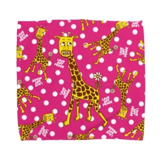 キリンだらけ -vivid- Towel handkerchiefs