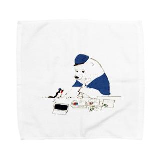 消印ペタペタ Towel handkerchiefs