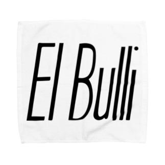 エルブリ ブラック×ホワイト タオルハンカチ