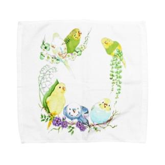 もりもりセキセイインコ Towel handkerchiefs