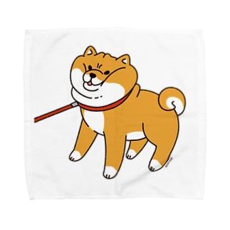 散歩から帰りたくない柴犬 Towel handkerchiefs