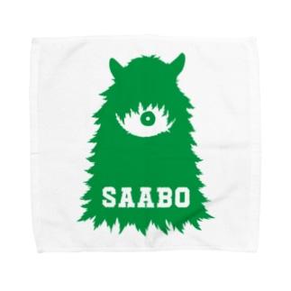 SAABO_FUR_ForestMan_L_G タオルハンカチ