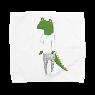Tommy_is_mozukuのcrocodile カラーバージョン Towel handkerchiefs