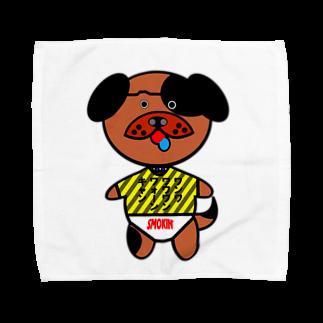 オリジナルデザインTシャツ SMOKIN'のわんわん赤ちゃん Towel handkerchiefs
