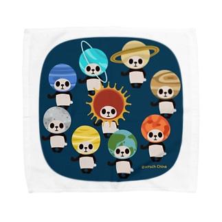 カブリモノ太陽系パンダ Towel Handkerchief