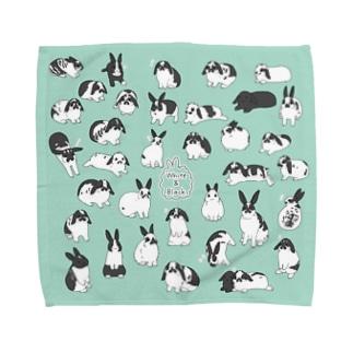 白黒うさぎさん大集合(MG) Towel Handkerchief