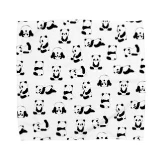 パンダアップ(ぱんだらけ) Towel handkerchiefs