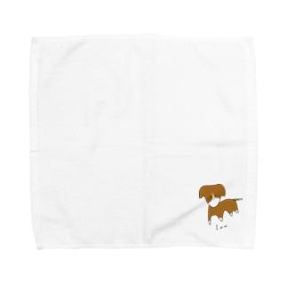 笑顔がデフォルトのInu-色淡小- Towel Handkerchief