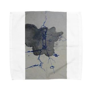 鬱染み Towel handkerchiefs