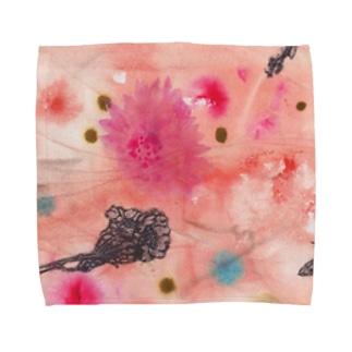 夕暮れの庭で Towel handkerchiefs