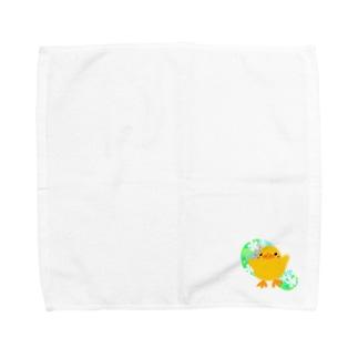 ほわピヨちゃん 背景あり② Towel handkerchiefs